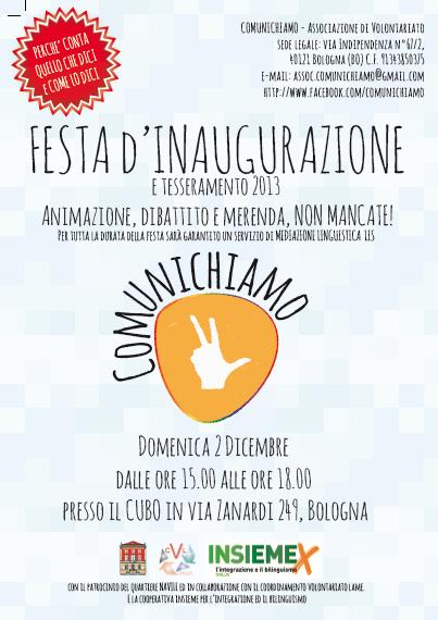 02.12.12 Festa inaugurale Associazione Comunichiamo
