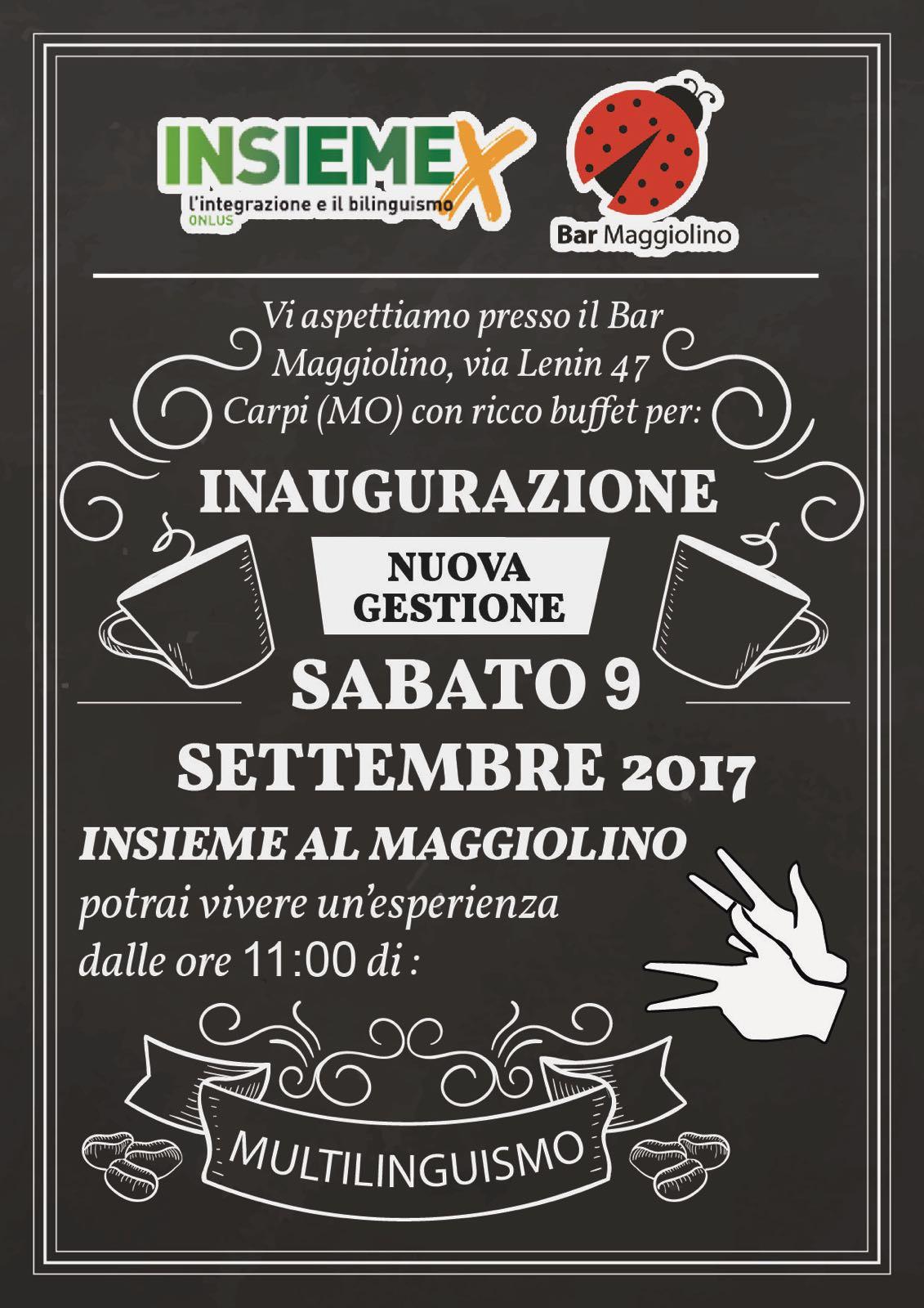 Carpi, inaugurazione del Bar Maggiolino!
